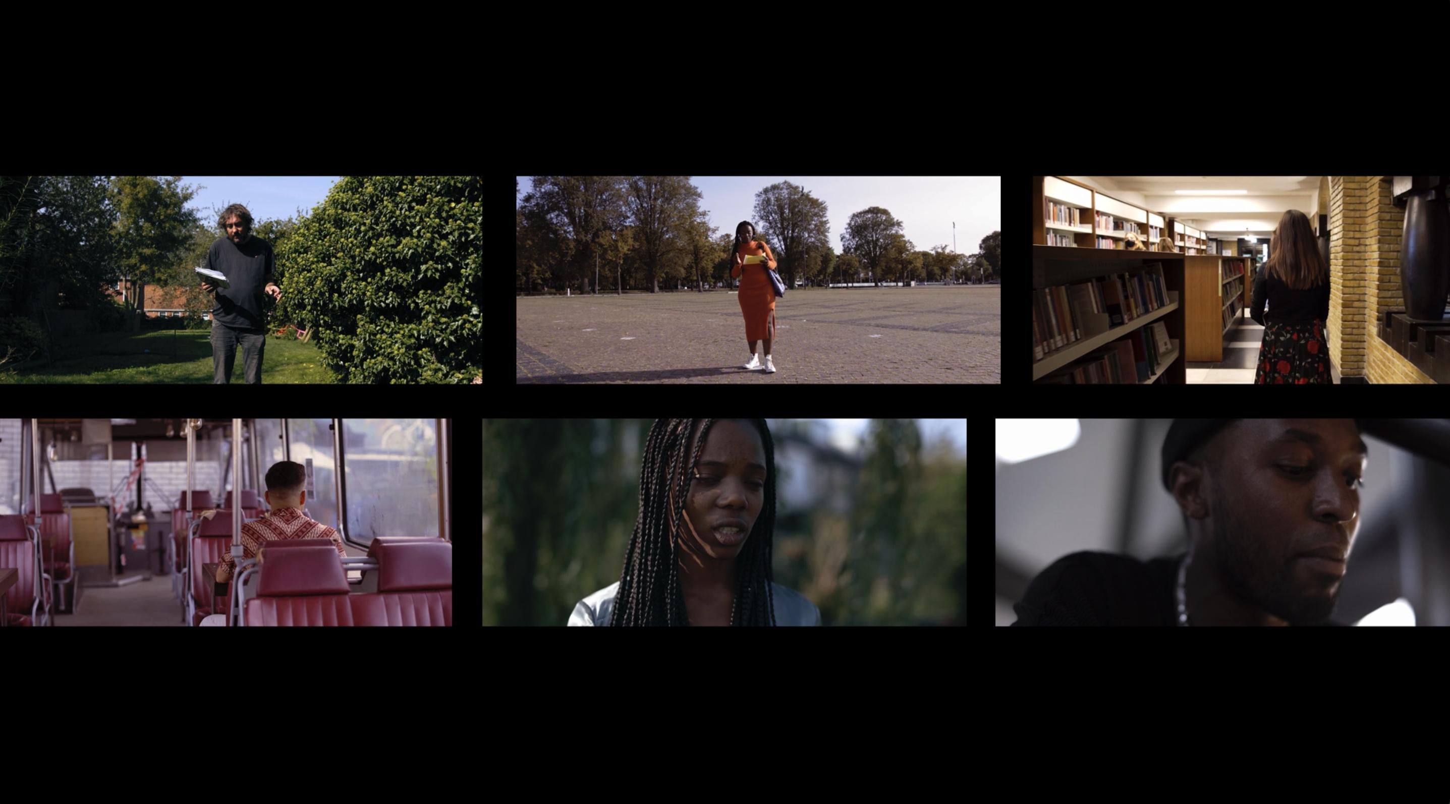 Screenshot van zes artiesten van Mensen Zeggen Dingen